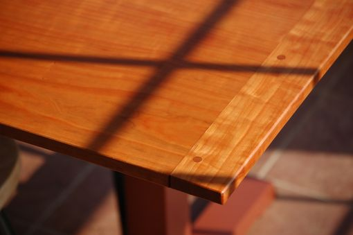Custom Made Shaker Trestle Dining Table In Cherry By