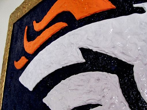 Custom Made Denver Broncos Logo - 3d Wall Art - Signage