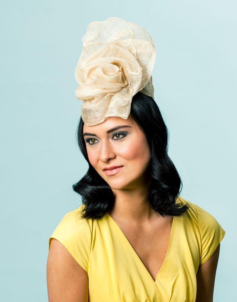 64ce3d05 Hand Crafted Freeform Sinamay Cocktail Hat by Karen Morris Milliner ...