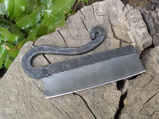 Custom Made Hand Forged Cigar Knife From Upcycled Repurposed Steel Hollow Ground Razor Sharp Fire Creek Forge