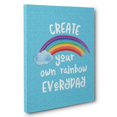 Custom Made Create Your Own Rainbow Canvas Wall Art