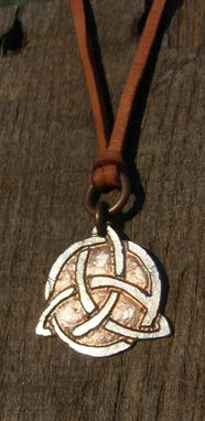 Custom Made Celtic Trinity Necklace. Celtic Knot. Triquetra.