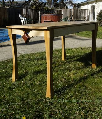 Custom Made Occasional Table In Maple