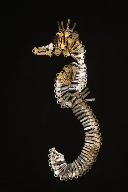 "Custom Made Metal Art For The Wall "" Seahorse Sculpture"""