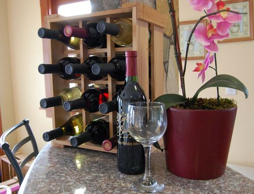 Custom Made Small Space Pantry Wine Rack Crate Handmade