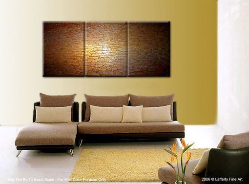 Custom Made Original Large Abstract Painting Gold Bronze Texture Modern Palette Knife, Thick Textured Painting