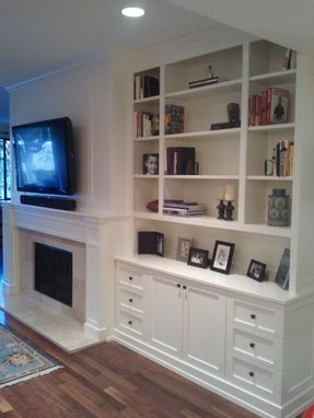 Custom Made Entertainment Bookcase