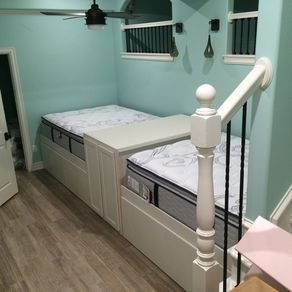 queen trundle beds for that built in look - Queen Trundle Bed Frame