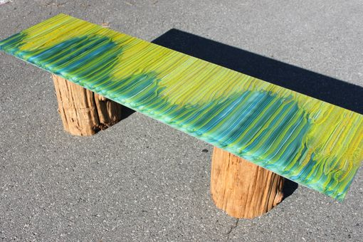 Custom Made Glass Bench