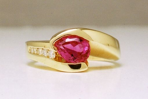 Custom Made Hot Pink Tourmaline Ring