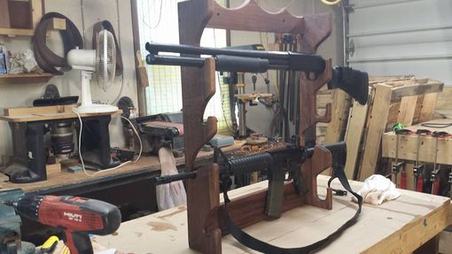 Custom Made Walnut Gun Rack