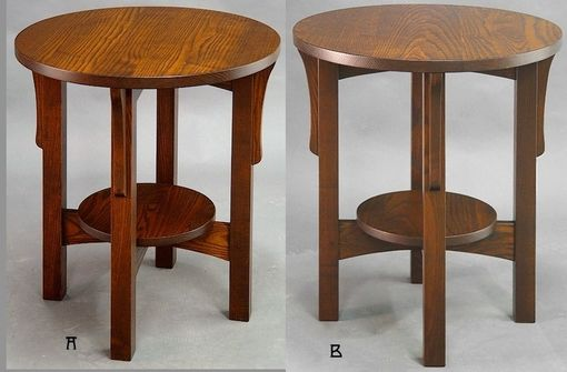 Custom Made L & Jg Stickley Round End Tables