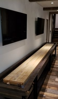 Custom Made 18' Quarter-Sawn Oak Shuffleboard Table