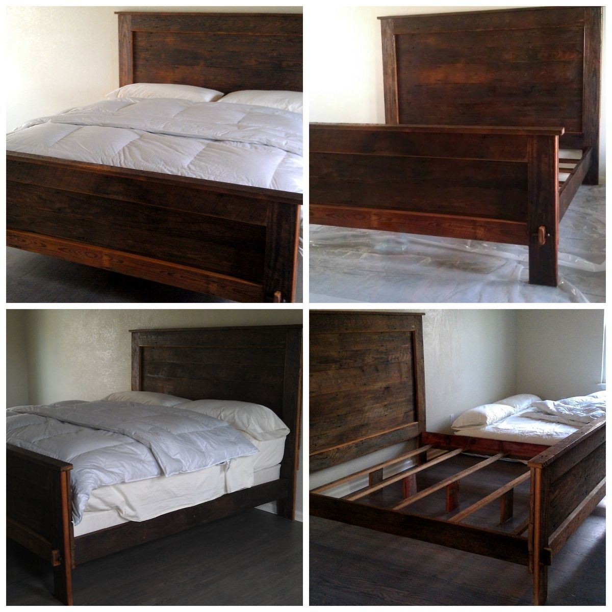 Mid Century Modern Bed Furniture: Hand Made Barn Wood Bed By Classy Pickers