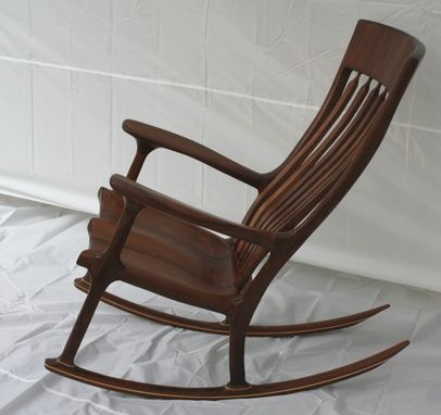 Custom Made Walnut Rocking Chair - Shipping Included