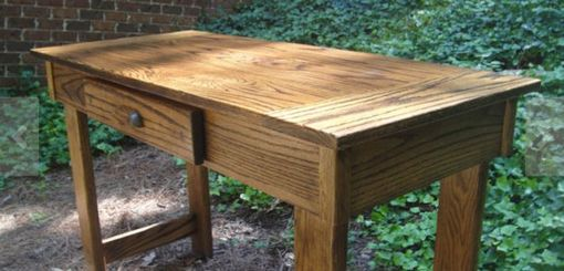 Custom Made Solid White Oak Desk With Drawer In Variable And Custom Sizes
