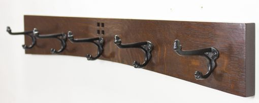 Custom Made Arts And Crafts / Mission Cast Iron Hook Coat Rack