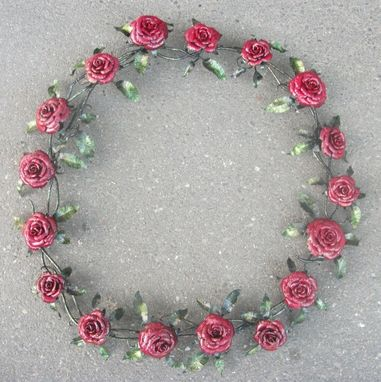 Custom Made Large Steel Rose Wreath