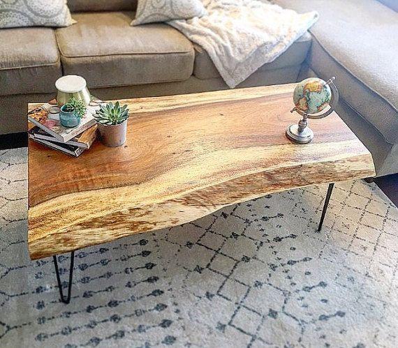 Live Edge Coffee Table Room: Buy A Hand Made Monkey Pod Live Edge Coffee Table, Made To