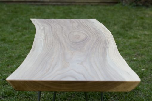 Custom Made Live Edge Elm Coffee Table
