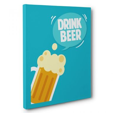 Custom Made Drink Beer Kitchen Canvas Wall Art