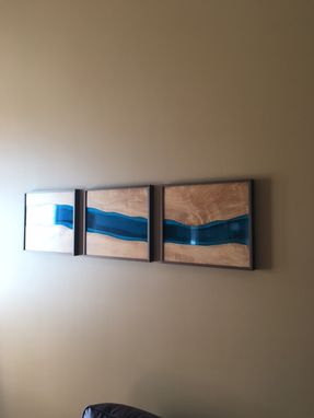 Custom Made Ambrosia Maple Live Edge River Wall Art