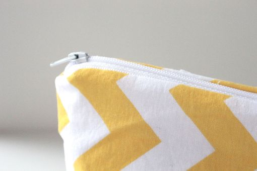 Custom Made Large Gusseted Messy Bags (Snack Bags) - Yellow Chevron