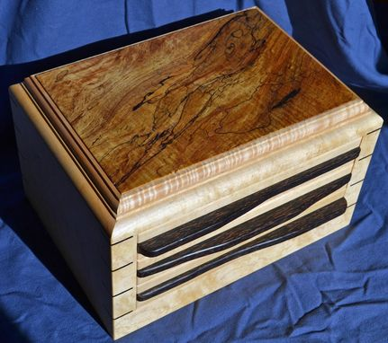 Custom Made Three Drawer Jewelry Box For Christmas