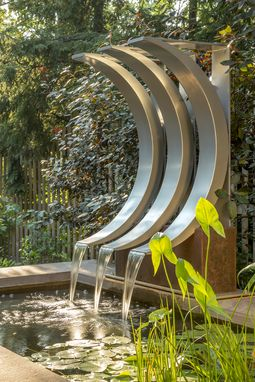Custom Made Crescent-Shaped Water Feature