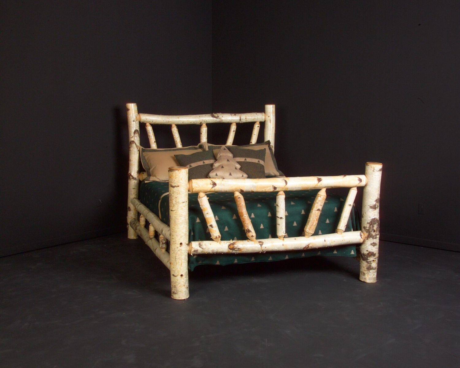 Handmade Birch Log Bed Frame By Viking Log Furniture Custommade Com