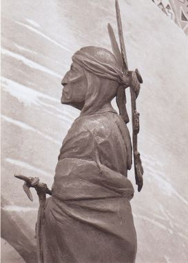 Custom Made Bronze Sculpture: Mazasha, Chief Red Iron.