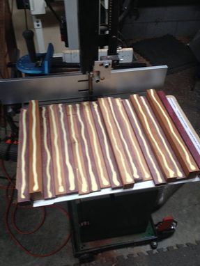 Custom Made Beautiful Purpleheart & Nc Cherry Cutting Board