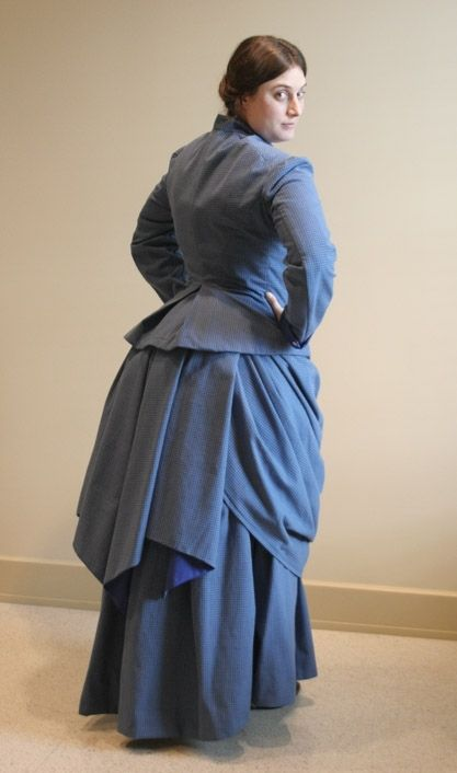 Custom Victorian Bustle Day Dress By Hourglass Attire