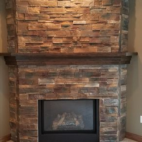 Custom Soft Maple Wrap Around Mantel By Leland Franke