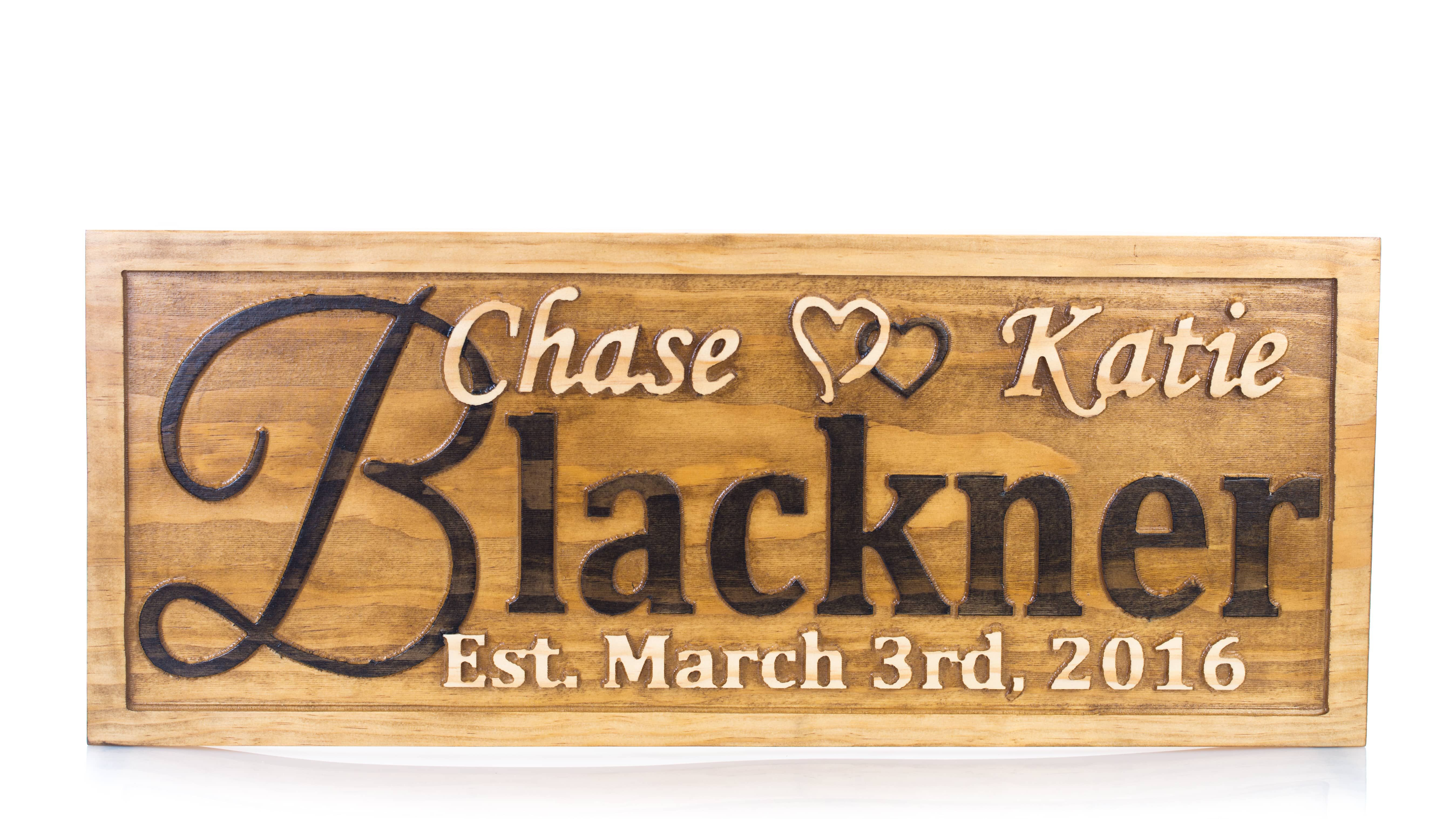 A Handmade Personalized Wedding Gift Family Name Sign Custom Carved Wooden Signs Anniversary Wood Plaque Made To Order From Can Creations Llc
