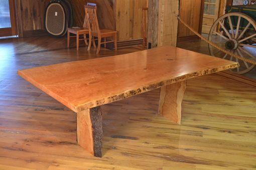 Custom Made Cherry Dining Table With Live Edge