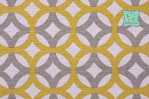 "Custom Made Custom Designer Draperies: Charleston Home Lyndon Geometric In Lime Gray And Citrine 108""L X 50""W"