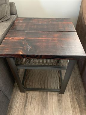 Custom Made Insudtrial End Table