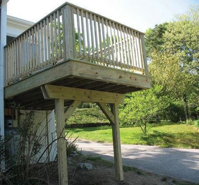 Custom Made Cantilevered Deck