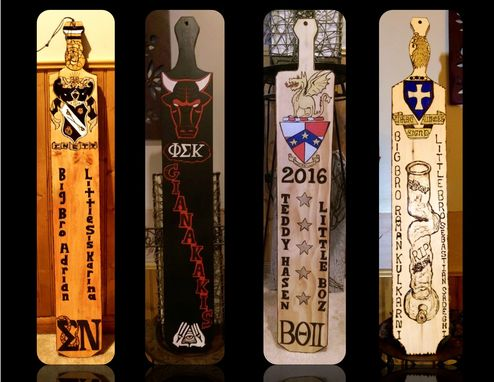 Custom Made Fraternity Paddle, Big Brother Gift,Custom Paddles, Frat Paddles,Unique Fraterity Paddles,