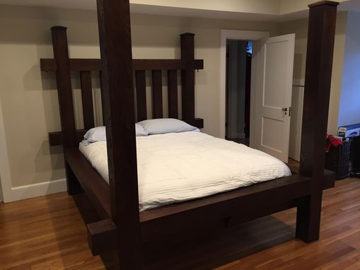 Custom Made Four Post Greens Mountain Timber Frame Bed
