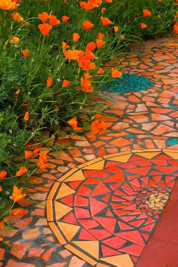 Outdoor Tile Mosaic Designs