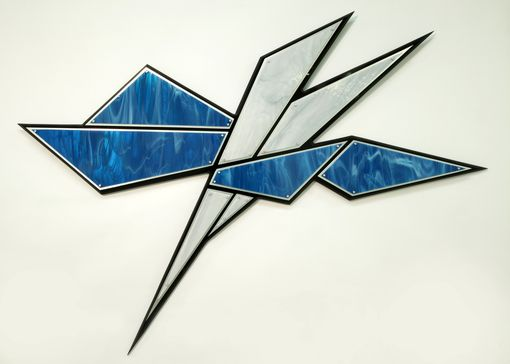Custom Made Glass Wall Sculpture