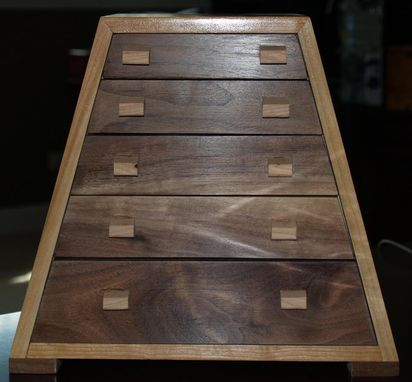 Custom Made Solid Cherry And Black Walnut Jewelry Box
