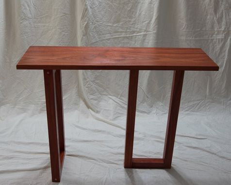 Custom Made Console Table - Modern Style - African Padauk