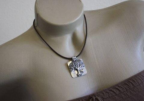 Custom Made Fine Silver - Fancy Tree Of Life Necklace - $220