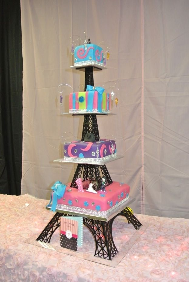 Buy a Hand Crafted Acrylic Eiffel Tower Cake Stand, made to order ...