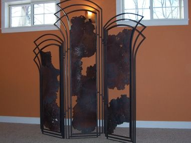 Custom Made Custom Iron Room Divider