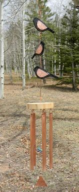Custom Made Sparrow Silhouette Wind Chime