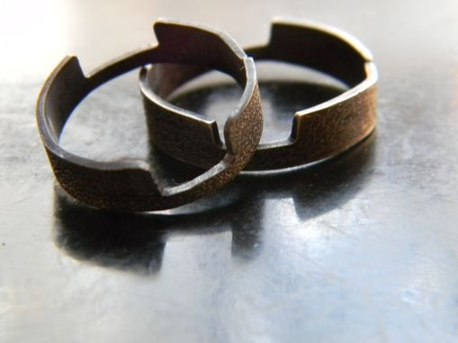 Custom Made Checkmate - The Rooks Rings For Chess Playing Couple